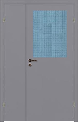 металлические двери с армированным стеклом